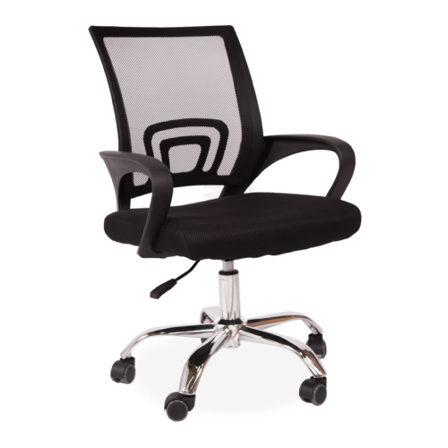 2x Black Modern office Chair with Silver office Legs